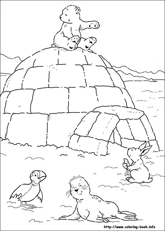 Little Polar Bear Coloring Picture