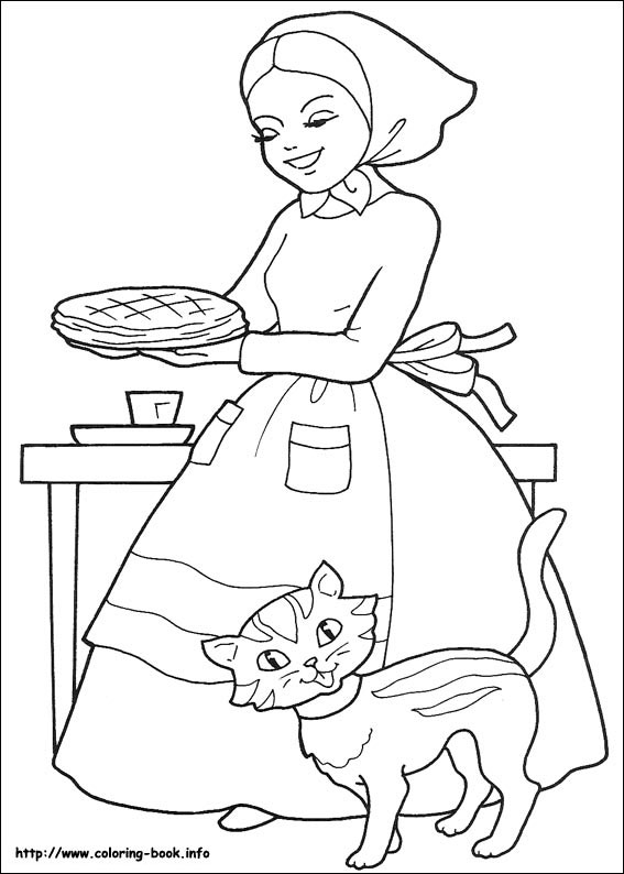 Little Red Riding Hood Coloring Pages Free - Coloring Home | 794x567