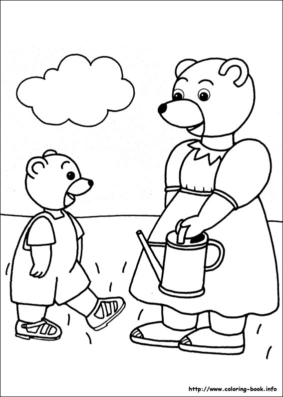 Little Brown Bear Coloring Picture
