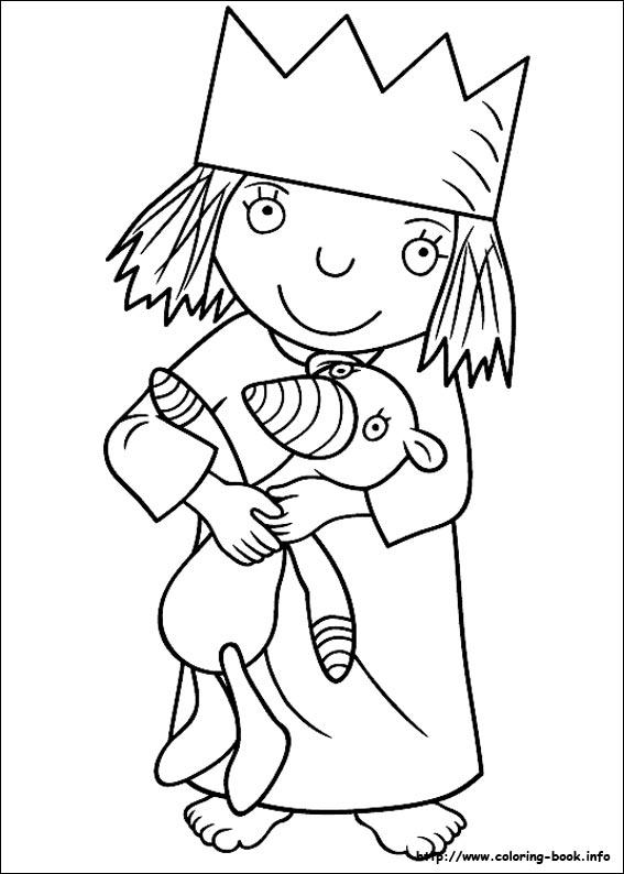 Little princess coloring picture