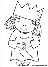Little Princess Coloring Pages On Coloring Book