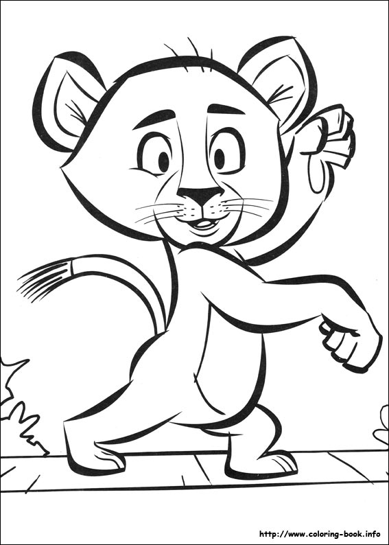 madagascar 2 coloring picture - Madagascar Coloring Pages