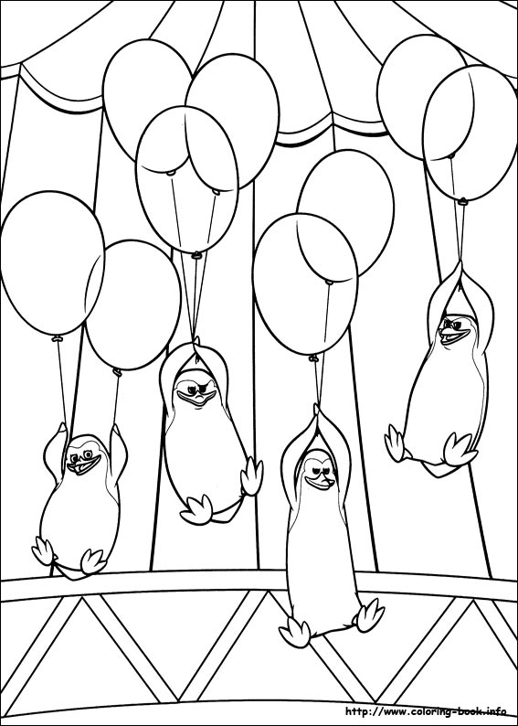 madagascar 3 coloring picture