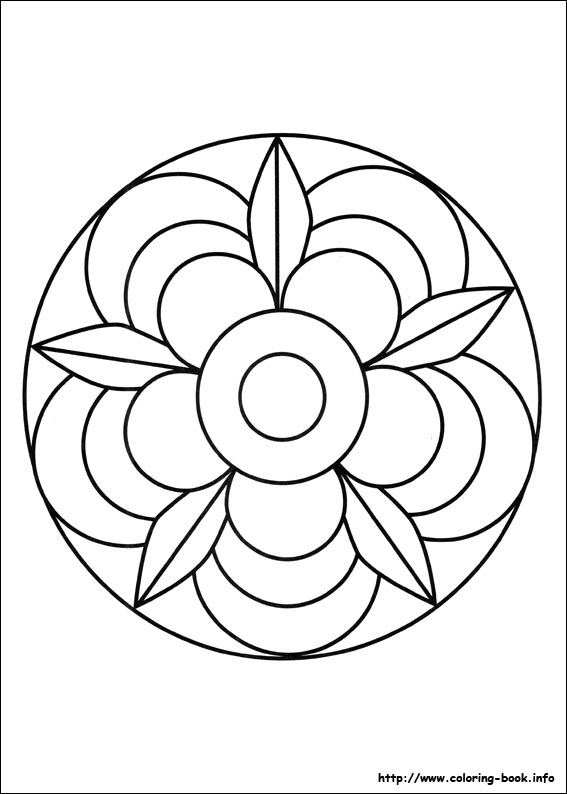 mandalas coloring picture - Simple Mandala Coloring Pages
