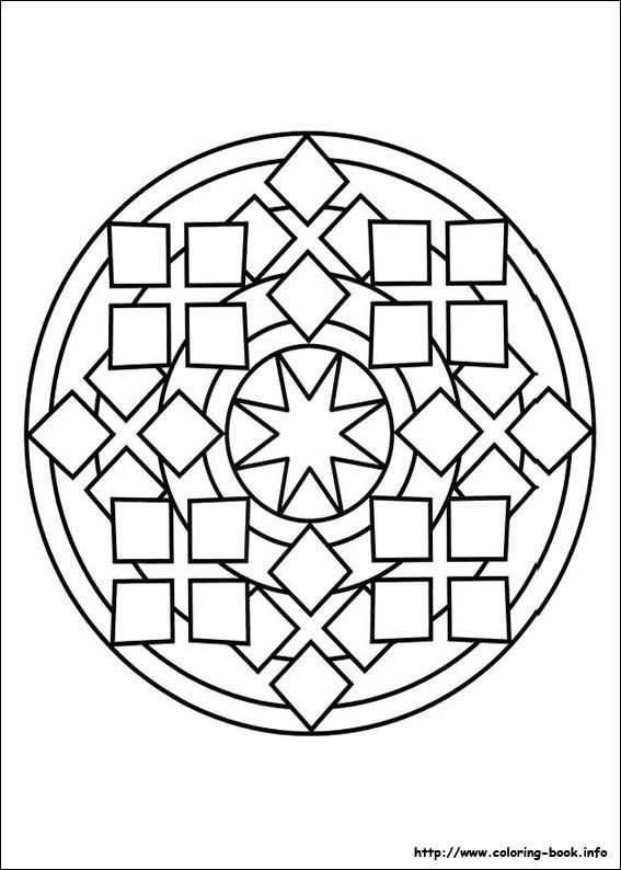 Mandalas Coloring Pages On Book