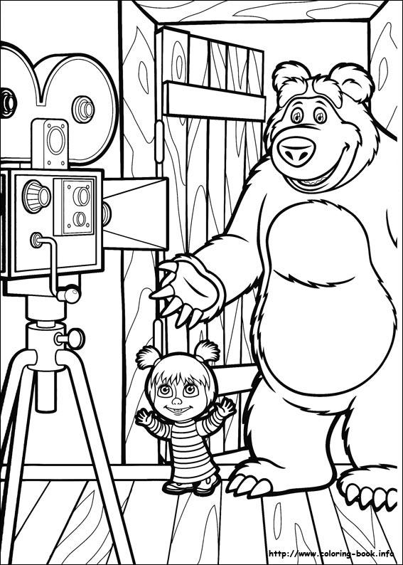 masha and the bear coloring pages Masha and the Bear coloring pages on Coloring Book.info masha and the bear coloring pages