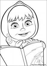 Masha And The Bear Coloring Pages On Coloring Book Info