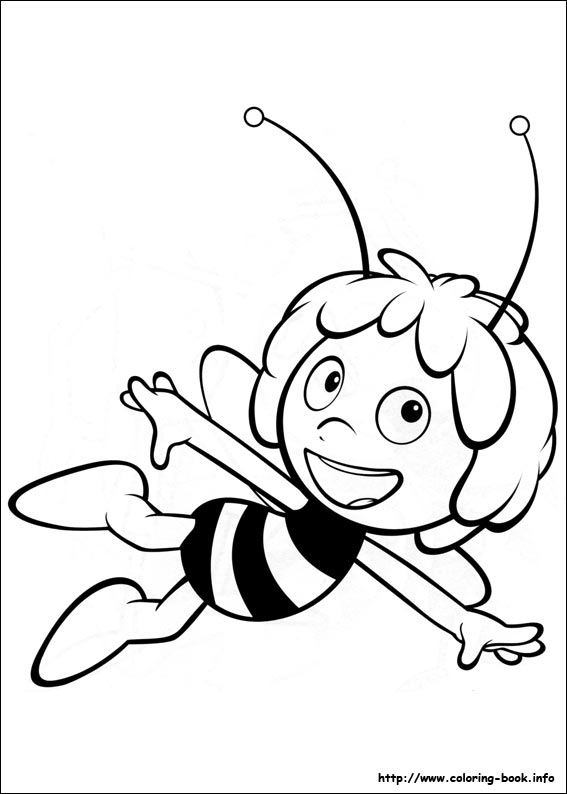 Maya the Bee coloring pages on Coloring-Book.info