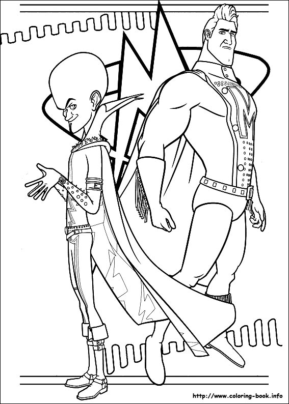 megamind coloring picture - Megamind Coloring Pages Printable
