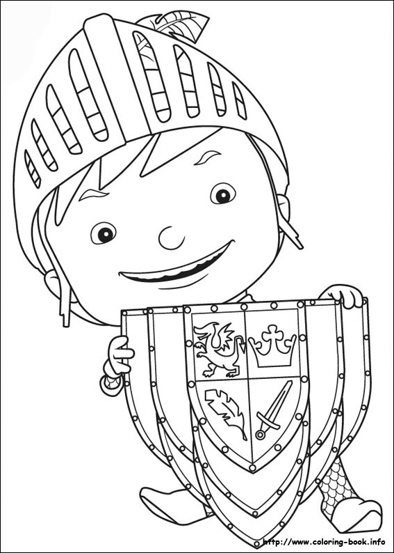 Mike The Knight Coloring Picture