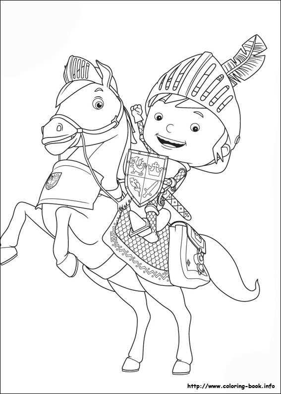 Mike the Knight coloring pages on Coloring Bookinfo