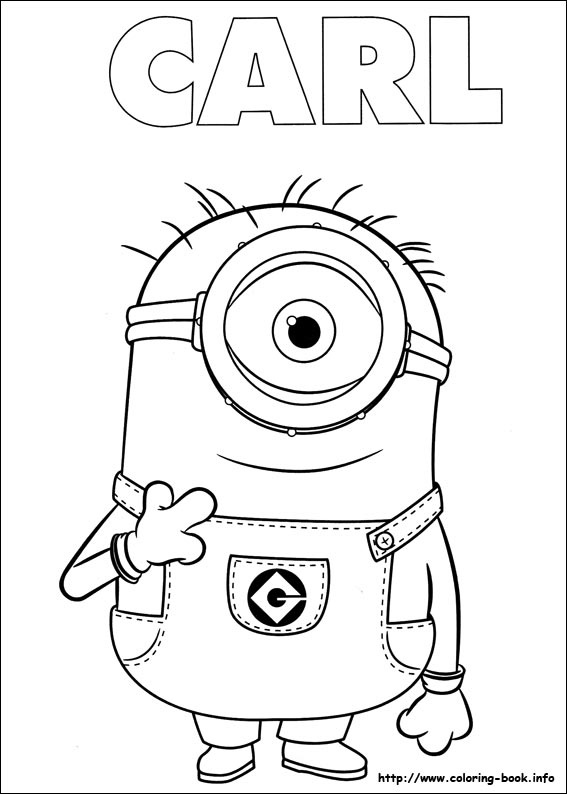 Minions Coloring Pages On Coloring Book