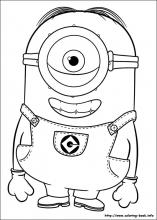 Minions coloring pages on ColoringBookinfo