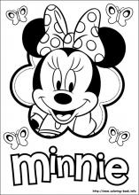 Minnie Mouse coloring pages on ColoringBookinfo