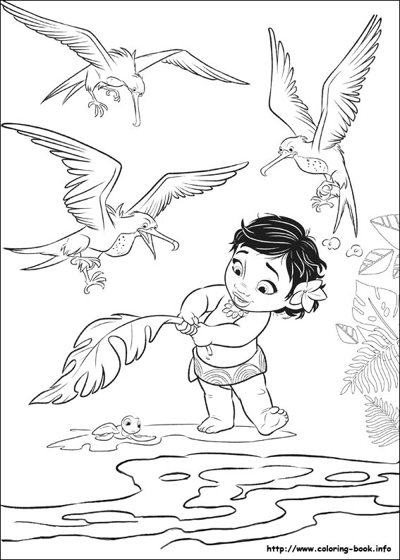 Moana Coloring Pages On Coloring Book Info