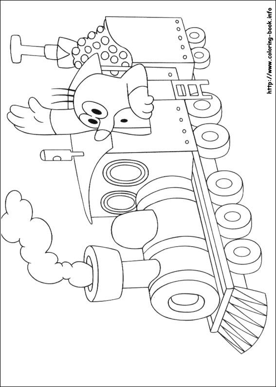 the mole coloring picture