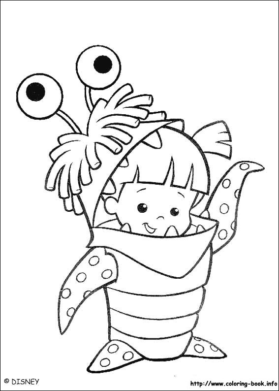 Monsters, inc. coloring picture