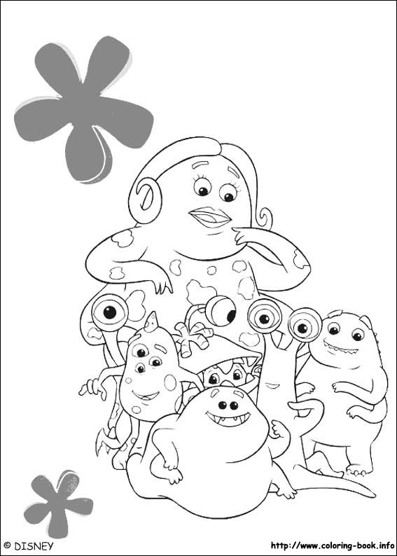 Monsters, inc. coloring pages on Coloring-Book.info