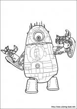 Monsters vs Aliens coloring pages on Coloring Bookinfo
