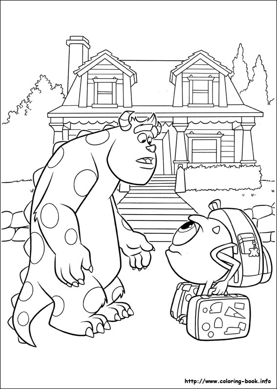 monsters university coloring pages Monsters University coloring picture monsters university coloring pages