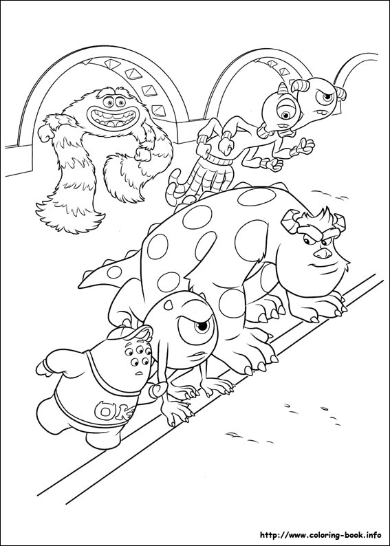 monster university coloring pages - photo#8