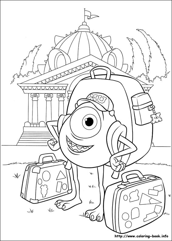 University coloring picture