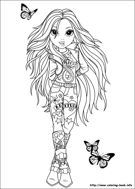 Moxie Girlz Coloring Pages On Coloring Book