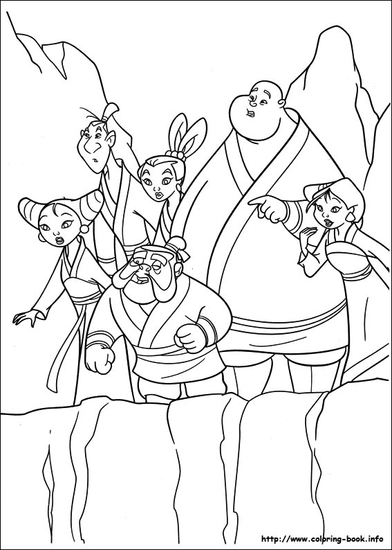 mulan coloring pages 2
