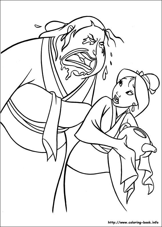 Mulan Coloring Pages Google Sgning Disney Book High