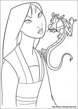 Mulan coloring pages on Coloring Bookinfo