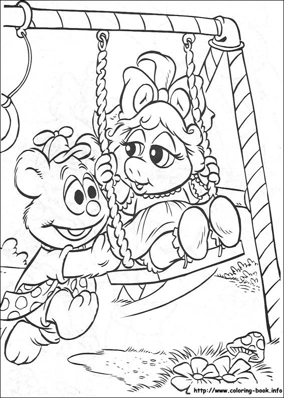 Babies coloring picture