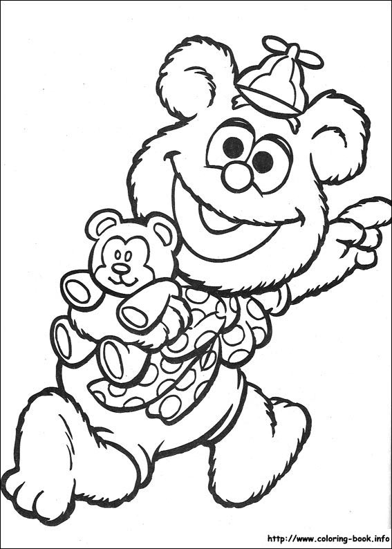 Muppet Babies coloring picture