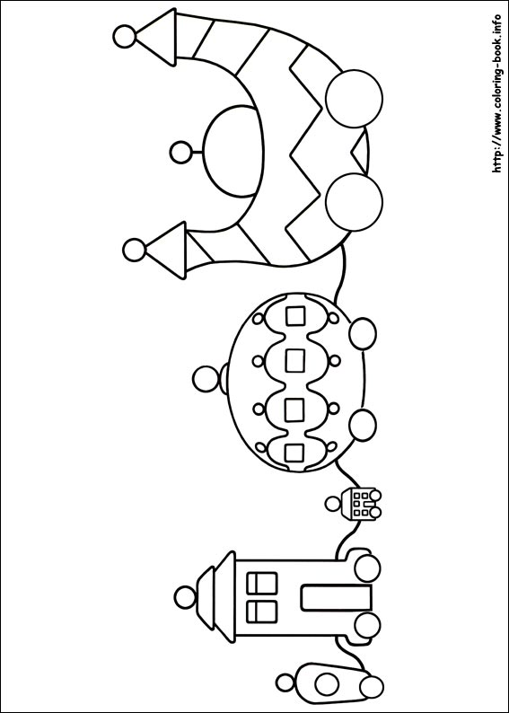 In the night garden coloring pages on ColoringBookinfo