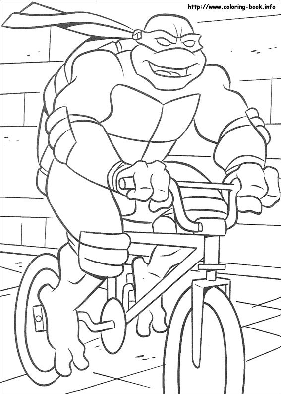 teenage mutant ninja turtles coloring picture - Tmnt Coloring Book