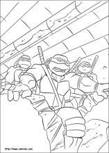 Teenage Mutant Ninja Turtles Coloring Pages On Book