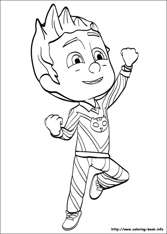 PJ Masks Coloring Pages On Book