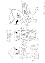 PJ Masks coloring pages on Coloring Bookinfo