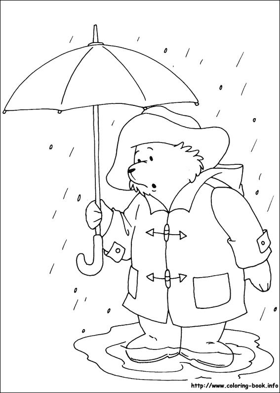 Paddington Bear coloring pages on Coloring-Book.info