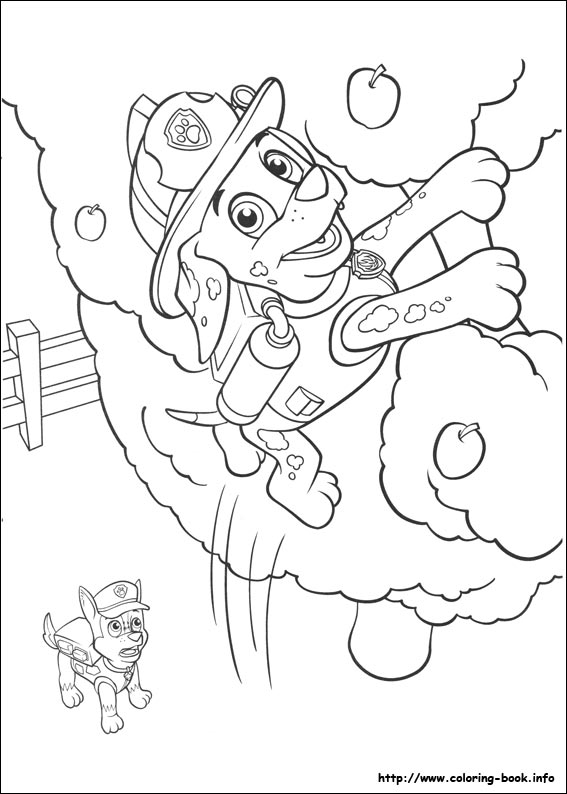 Paw Patrol coloring pages on ColoringBookinfo
