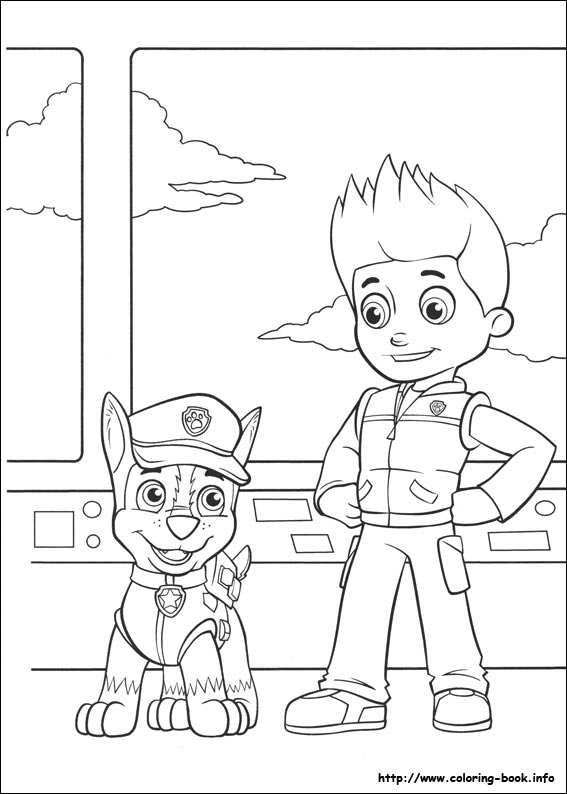 paw patrol coloring picture - Paw Patrol Coloring Book