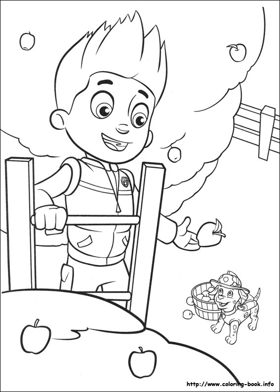 Patrol coloring picture
