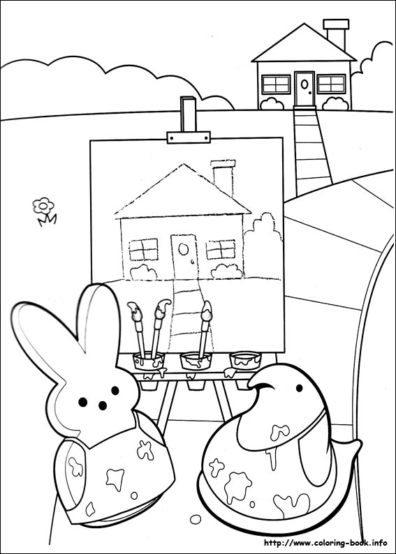 Peeps coloring picture