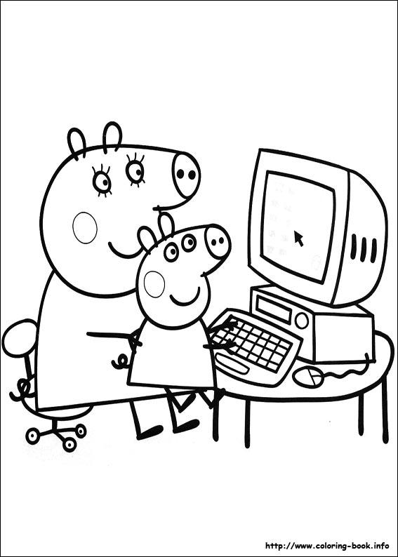 Imgenes para colorear de Peppa Cerdita  Ideas y material gratis