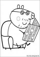index coloring pages - Peppa Pig Coloring Pages Print