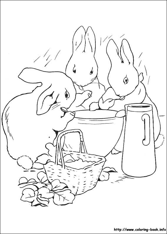 Peter Rabbit coloring pages on Coloring Bookinfo