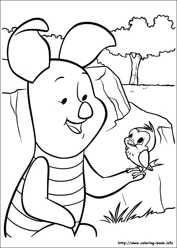 Piglet Coloring Picture Www Coloring Book Info