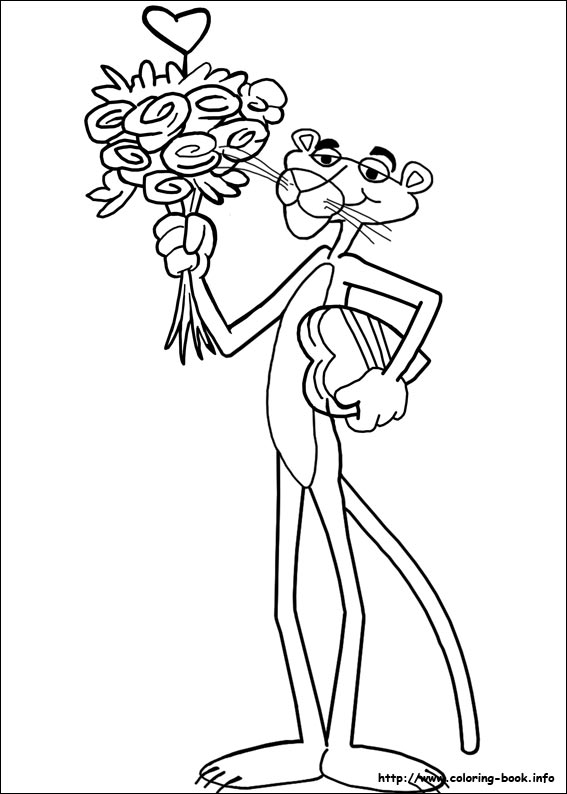 The Pink Panther coloring pages on Coloring Bookinfo