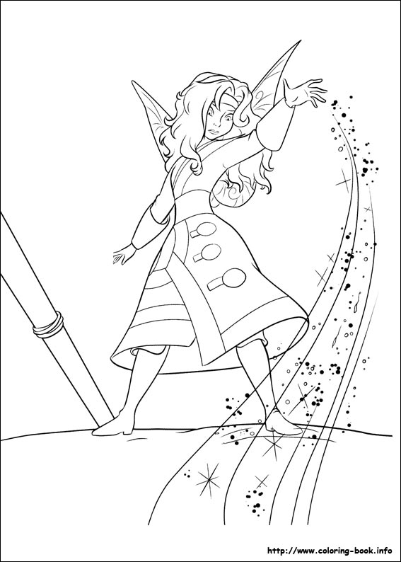 Pirate Fairy coloring picture