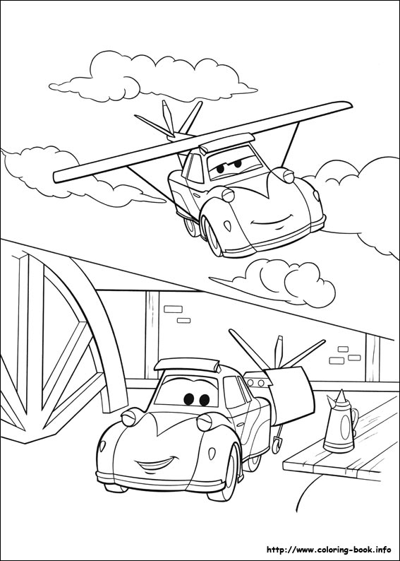 Planes coloring picture