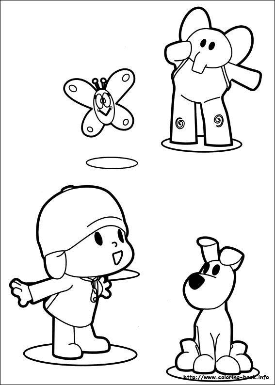 Delighted Pocoyo And Friends Coloring Pages Contemporary - Resume ...